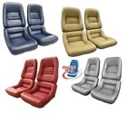 1979 - 1982 Corvette Leather-like Seat Covers Mounted On New Foam