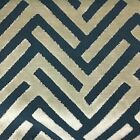 Ministry - Geometric Pattern Cut Velvet Upholstery Fabric By The Yard