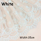 Embroidered Cotton Lace Edge Trim Fabric Tulle Mesh Craft Ribbon Sewing Handmade