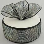 2.5 Poly Deco Mesh Ribbon Metallic Foil 25 Yard Roll Wreath Floral Bow Craft