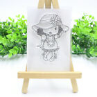 Happy Plant Transparent Silicone Clear Stamps Tree Diy Scrapbook Embossing Girl