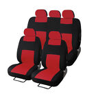 Universal Car Seat Covers Front Rear Head Rests Full Set For Auto Sedan Suv Van