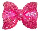 42x54mm Neon Pink Rhinestone Bow Chunky Bubblegum Bead 1 Or 5 Pieces