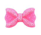 43x28mm Neon Pink Rhinestone Bow Chunky Bubblegum Bead 1 Or 5 Pieces