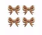 46x36mm Metallic Gold Bow Tie Chunky Bubblegum Beads Diy 1 Or 5 Pieces