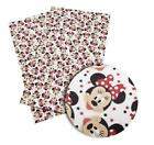 Minnie Mouse Hot Pink Polka Dot Bow Faux Leather Sheet Fabric Full Or 12 Sheet