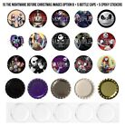 Nightmare Before Christmas Pre-cut 1 Inch Bottle Cap Images 7 Options