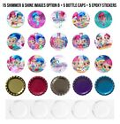 Shimmer And Shine Pre-cut 1 Inch Bottle Cap Images 11 Options