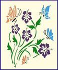 Hibiscus Butterflies Mylar Stencil Signs Flowers Fabric Painting Stencils