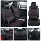 11pcs Car Seat Cover Protectorcushion Front Rear Full Set Pu Leather Interior