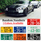 Universal Random Numbers Japanese Car License Plate Aluminum Tag For Jdm