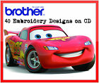 40 Disney Cars Embroidery Designs Files For Brother Machine Pes