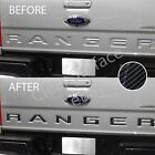 Tailgate Insert Inlay Decal Letters 2019 2020 Ford Ranger 6d Glossy Carbon Fiber