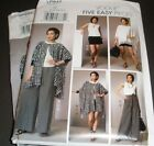 Vogue 9191 947 Pattern Poncho Top Pants Misses Sizes 4-14 Or 16-26 Uc