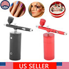 Dual Action Airbrush Air Compressor Kit Set 0.3mm Nozzle Spray Painting Tattoo