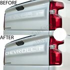 Tailgate Vinyl Decal Inserts Letters Chevy Silverado 2019 - Gloss
