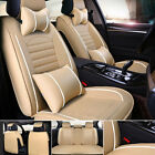 Universal Deluxe 5-seats Car Seat Cover Frontrear Pu Leather Cushion Full Set
