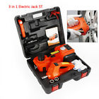 Dc 12v 35t Car Electric Hydraulic Jack W Impact Wrench 3 In 1 Repair Tool Kit