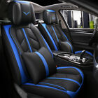 Deluxe Universal 5-seats Car Seat Cover Front Pu Leather Rear Cushion Full Set