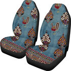 Bohemia Style Baja Blanket Car Seat Cover Funky Design For Women Girls Set Of 2