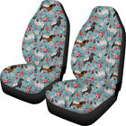 Floral Horse Printed Front Car Seat Covers For Women 2 Pcs Set Universal Fit