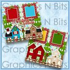 Christmas Village 12x12 Printed Premade Scrapbook Pages