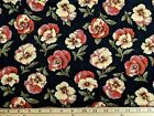 Attic Treasures By Brannock Patek For Moda Red Pansies Black Oop By 12 Yard