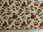 Attic Treasures By Brannock Patek For Moda Red Pansies On Tan Oop By 12 Yard