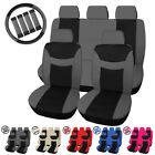 Universal Cloth Auto Car Seat Cover Set Protector Steering Wheel Cover Belt Pad