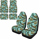 Cute Sloth Car Seat Covers With Floor Mats Full Set Of 6 For Women Auto Interior