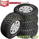 4 General Grabber X3 35x12.50r17lt 121q 10-plye Red Letter Jeep Truck Mud Tires