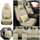 Luxury Car Pu Leather Seat Covers Full Set 5-seat Cushions Car Accessories Parts