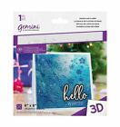 Gemini - 5 X 7 Or 6 X 6 3d Embossing Folders Christmas By Crafters Companion