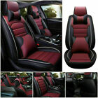 Universal Pu Leather Car Seat Cover Set Protector Front Rear Wpillow Waterproof