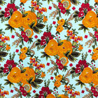 Rose Print Fabric 100 Cotton Floral Design 5860 Wide Sold Bty Draft