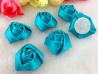Diy 1050100pcs Satin Ribbon Rose Flower Diy Craft Wedding Appliques