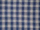 Navy And Tan Homespun Fabric Cotton Rag Quilt Fabric Doll Making Fabric