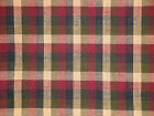 Multi Color Check Fabric Navy Olive Wine And Tea Dye Fabric Rag Quilt Fabric