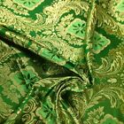 Metallic Floral Brocade Fabric 60 By Yard In Red Gold White Purple Blue Green