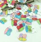 Mixed Bee Wooden Sewing Buttons Scrapbooking Animal Decoration Crafts 29mm