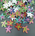 Starfi Ocean Star Wooden Buttons Fit Sewing And Scrapbook Decorative Crafts 21mm