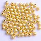 Silvergoldblack Round Stardust Copper Ball Spacer Beads 4mm 6mm 8mm 10mm