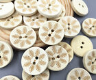 Wooden Round Buttons Fit Sewing Decoration 2-holes Scrapbooking Crafts 20mm