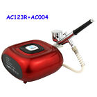 Ophir Professional Makeup Airbrush Kit With Red Mini Air Compressor 0.3mm0.2mm