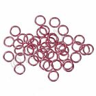 Pink Jump Rings 6mm - 50100200 Wholesale Findings For Jewelry Making F1273