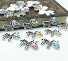 Cartoon Animal Buttons Wooden Mixed Color Zebra Buttons Sewing Scrapbooking 29mm