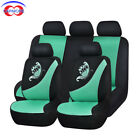 11 Pcs Universal Car Seat Covers Mesh Breatherable Butterfly Embroidery Washable