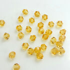 Wholesale 200pcs Bicone Faceted 5301 Crystal Glass Loose Spacer Beads Diy 4mm