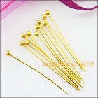 New Connectors Ball Head Pins Dull Silver Champagne Gold 15mm 20mm 25mm 30mm