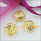 150 New Gold Silver Bronze Plated Leaf Flower End Bead Caps Connectors 10mm